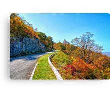 Blue Ridge Drive Canvas Print