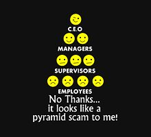 Ceo managers supervisors employees no thanks it looks like a pyramid scam to me Unisex T-Shirt
