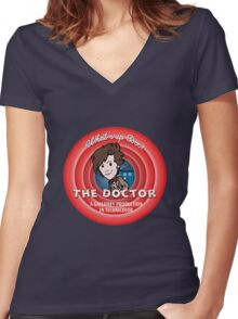 What's Up Doctor? Women's Fitted V-Neck T-Shirt
