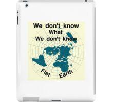 Flat earth, reality check, iPad Case/Skin