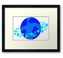 Blue Alien World, Planet Framed Print