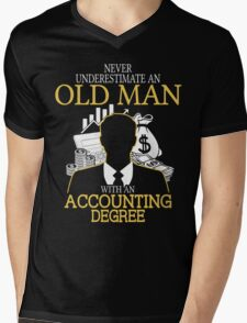 Never Underestimate An Old Man With An Accounting Degree T-Shirt