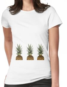 Pineapples  Womens Fitted T-Shirt