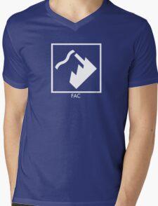 Record Label 4 (white) Mens V-Neck T-Shirt