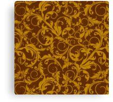 Vintage Swirls Mango Cinnamon Canvas Print