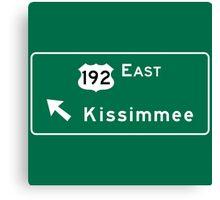 Kissimmee, Road Sign, Florida Canvas Print