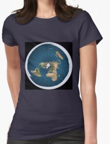 The truth, flat earth ,  Womens Fitted T-Shirt