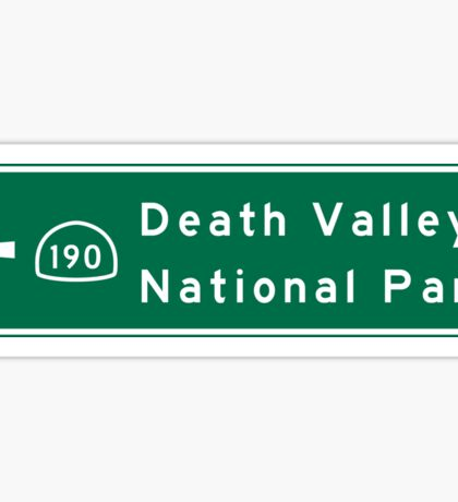 Death Valley National Park, Road Sign, California Sticker