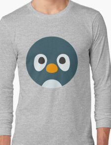 Cute Cartoon Penguin Face Long Sleeve T-Shirt