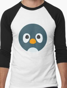 Cute Cartoon Penguin Face Men's Baseball ¾ T-Shirt