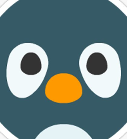 Cute Cartoon Penguin Face Sticker