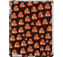 Campfire red orange yellow flames black border iPad Case/Skin