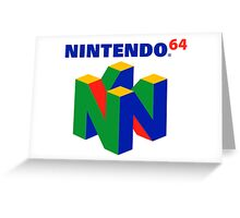 N64 Logo (With Text) Greeting Card