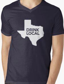 Texas Drink Local TX Mens V-Neck T-Shirt