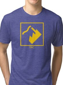 Record Label 4 (yellow) Tri-blend T-Shirt