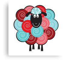 Curly the Sheep Canvas Print