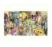 Zany Characters Art Print
