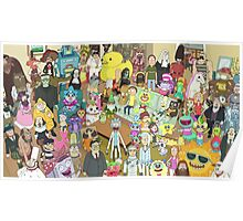 Zany Characters Poster