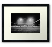 Stoke City v Liverpool Soccer Match England Framed Print