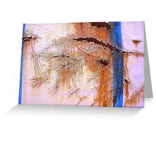 Crackled Feathered Rust  Greeting Card