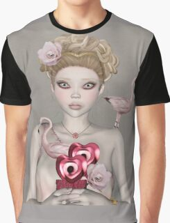 Surreal portrait of a woman with big eyes Graphic T-Shirt