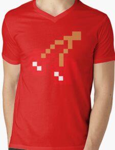 8-Bit Cherry Mens V-Neck T-Shirt