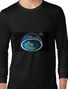 It's flat the earth,#flat earth  Long Sleeve T-Shirt