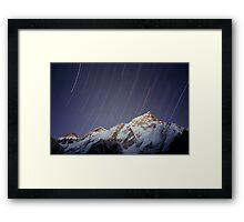 Star trails over Mount Everest Nepal Framed Print