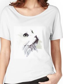 Snow white Cat Women's Relaxed Fit T-Shirt
