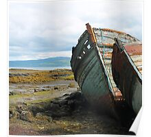 Beautiful Decay: Old Boats on The Isle of Skye, Scotland Poster