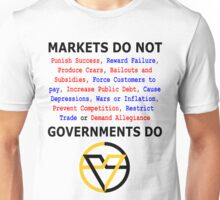 Markets DO NOT, GOVERNMENTS DO by Paine's Torch Unisex T-Shirt