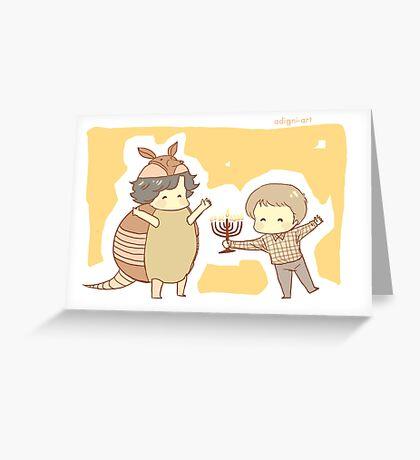 Hanukkah & the Holiday Armadillo Greeting Card
