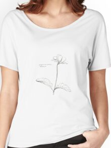 Sketched Floral - Begonia  Women's Relaxed Fit T-Shirt