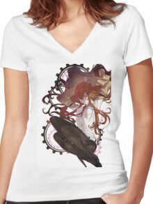 Steins;Gate - Kurisu's Gears Women's Fitted V-Neck T-Shirt