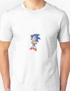Cross Stitch Pixel Sonic The Hedgehog T-Shirt