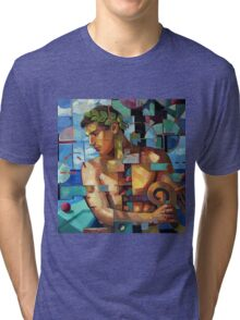 Apollo plays the harp Tri-blend T-Shirt