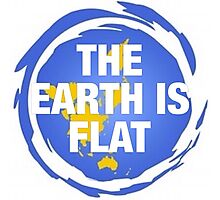 Flat earth, what we don't know,  Photographic Print