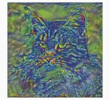 Artificial neural style Post-Impressionism cat Kids Tee