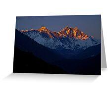 Everest View Khumbu Himalaya Nepal Greeting Card