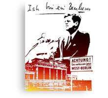 Ich bin ein Berliner, Berlin Wall, T-shirt Canvas Print