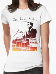 Ich bin ein Berliner, Berlin Wall, T-shirt Womens Fitted T-Shirt