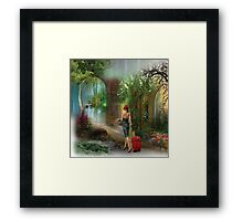 Adventure digital illustration Framed Print