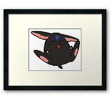 Black Mokona Framed Print