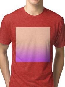 Vintage Peach to Purple Gradient Tri-blend T-Shirt