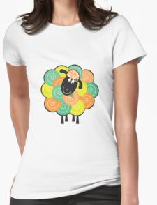 Curlier the Sheep Womens Fitted T-Shirt