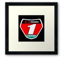 RD 1 Supercross champ plate Framed Print