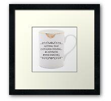 Caffeine fix Framed Print