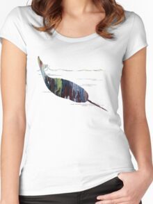 narwhal  Women's Fitted Scoop T-Shirt