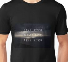 Flat earth,plane sight Unisex T-Shirt