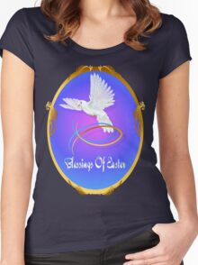 Blessings Of Easter Oval Women's Fitted Scoop T-Shirt